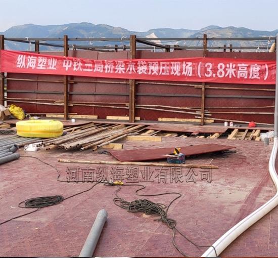 中铁三局桥梁预压施工现场