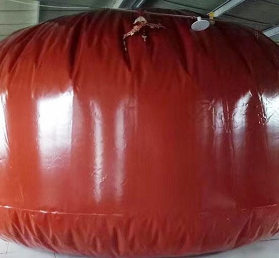 圆形红泥储气袋